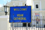 Welcome Sign to the Cathedral